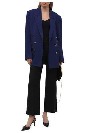 Женские кожаные туфли vlogo signature VALENTINO черного цвета, арт. VW0S0R01/TMK | Фото 2