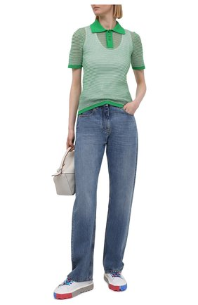 Женские кожаные кеды sponge OFF-WHITE разноцветного цвета, арт. 0WIA264S21LEA0010110 | Фото 2