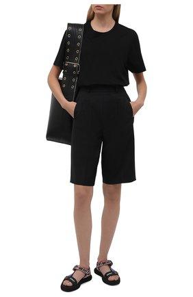 Женские текстильные сандалии trek OFF-WHITE разноцветного цвета, арт. 0WIH007S21FAB0011084 | Фото 2 (Подошва: Платформа; Материал внешний: Текстиль)
