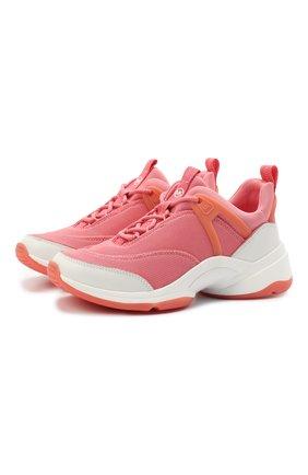 Женские текстильные кроссовки sparks MICHAEL MICHAEL KORS розового цвета, арт. 43S1SPFS2D | Фото 1