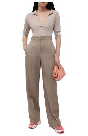 Женские текстильные кроссовки sparks MICHAEL MICHAEL KORS розового цвета, арт. 43S1SPFS2D | Фото 2