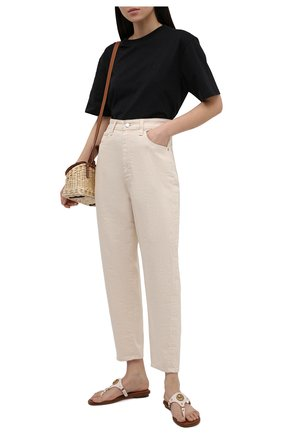 Женские кожаные шлепанцы conway MICHAEL MICHAEL KORS бежевого цвета, арт. 40S1C0FA1L | Фото 2