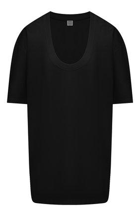 Женская футболка из вискозы TOTÊME черного цвета, арт. 212-442-774 | Фото 1