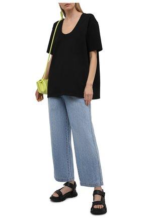 Женская футболка из вискозы TOTÊME черного цвета, арт. 212-442-774 | Фото 2
