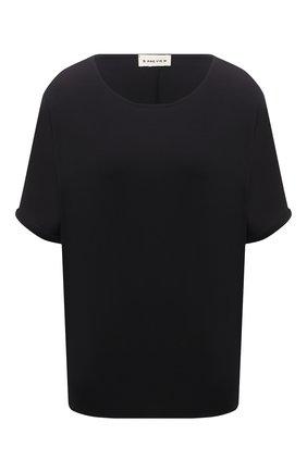 Женская футболка из вискозы 5PREVIEW черного цвета, арт. 5PW21045 | Фото 1