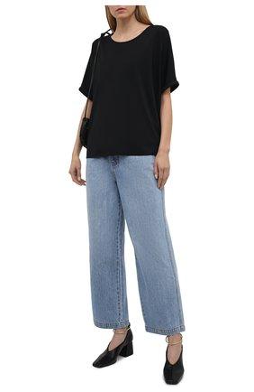 Женская футболка из вискозы 5PREVIEW черного цвета, арт. 5PW21045 | Фото 2