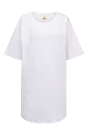 Женская хлопковая футболка YOHJI YAMAMOTO белого цвета, арт. ND-T59-086   Фото 1