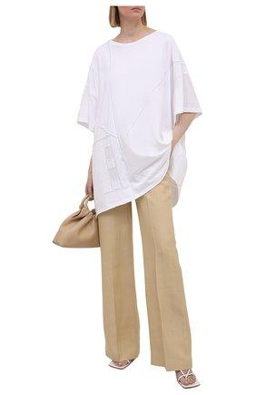 Женская хлопковая футболка YOHJI YAMAMOTO белого цвета, арт. ND-T59-086   Фото 2