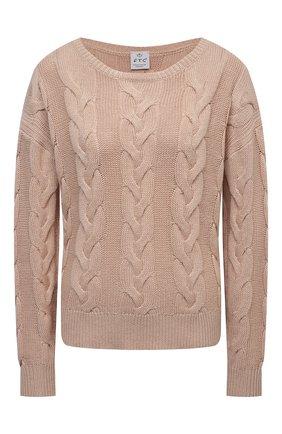 Женский хлопковый свитер FTC бежевого цвета, арт. 823-0130   Фото 1