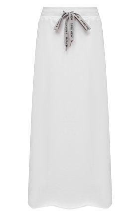 Женская хлопковая юбка 5PREVIEW белого цвета, арт. 5PW21028 | Фото 1