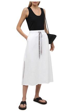Женская хлопковая юбка 5PREVIEW белого цвета, арт. 5PW21028 | Фото 2