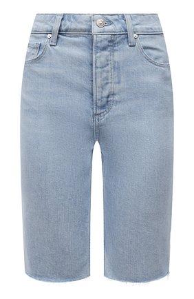 Женские джинсовые шорты PAIGE голубого цвета, арт. 6717635-4330 | Фото 1
