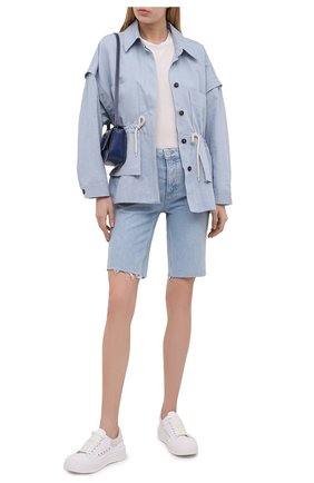 Женские джинсовые шорты PAIGE голубого цвета, арт. 6717635-4330 | Фото 2