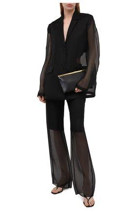 Женский шелковый жакет JIL SANDER черного цвета, арт. JSWS135026-WS282500   Фото 2
