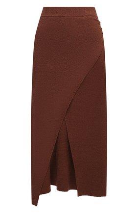Женская хлопковая юбка NANUSHKA коричневого цвета, арт. AINSLEY_NUTMEG_TERRY KNIT | Фото 1 (Стили: Кэжуэл; Женское Кросс-КТ: Юбка-одежда; Материал внешний: Хлопок; Длина Ж (юбки, платья, шорты): Миди)
