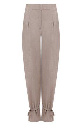 Женские шерстяные брюки ERIKA CAVALLINI бежевого цвета, арт. S1/P/P1SN04 | Фото 1