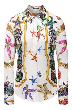 Женская шелковая рубашка VERSACE разноцветного цвета, арт. A84722/1F01000 | Фото 1
