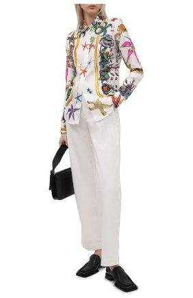 Женская шелковая рубашка VERSACE разноцветного цвета, арт. A84722/1F01000 | Фото 2