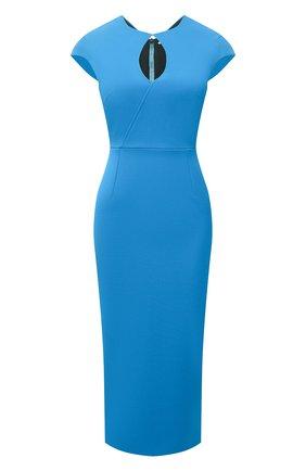Женское платье ROLAND MOURET синего цвета, арт. SS21/S2270/F2196   Фото 1