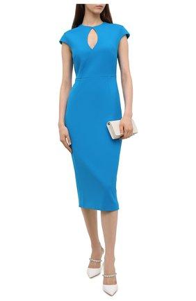 Женское платье ROLAND MOURET синего цвета, арт. SS21/S2270/F2196   Фото 2