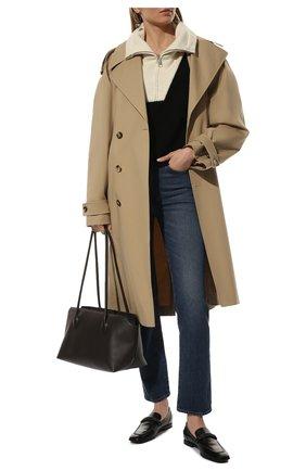 Женские кожаные лоферы BRUNELLO CUCINELLI черного цвета, арт. MZPRC2017P | Фото 2 (Материал внутренний: Натуральная кожа; Подошва: Плоская; Каблук высота: Низкий)