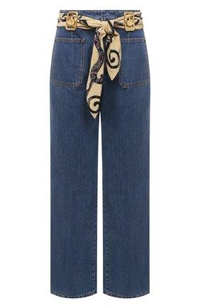 Женские джинсы LANVIN темно-синего цвета, арт. RW-TR0023-D002-E21 | Фото 1
