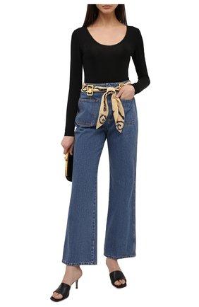 Женские джинсы LANVIN темно-синего цвета, арт. RW-TR0023-D002-E21 | Фото 2