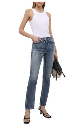 Женские джинсы AMBUSH синего цвета, арт. BWYA001S21DEN001 | Фото 2