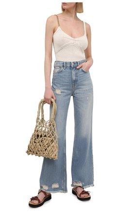 Женские джинсы ACNE STUDIOS голубого цвета, арт. A00281 | Фото 2