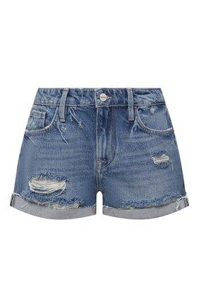 Женские джинсовые шорты FRAME DENIM синего цвета, арт. LGGSH385 | Фото 1 (Материал внешний: Хлопок, Деним; Длина Ж (юбки, платья, шорты): Мини; Женское Кросс-КТ: Шорты-одежда)