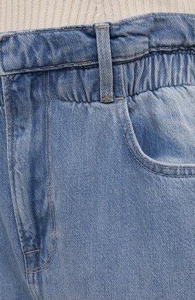 Женские джинсы FRAME DENIM голубого цвета, арт. EWJ207/A   Фото 5 (Кросс-КТ: Деним; Длина (брюки, джинсы): Стандартные; Силуэт Ж (брюки и джинсы): Прямые; Материал внешний: Хлопок, Деним; Детали: Потертости; Стили: Кэжуэл)