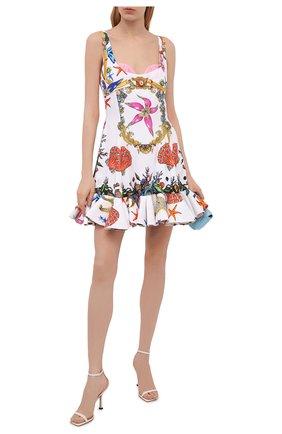 Женское платье из вискозы VERSACE разноцветного цвета, арт. A89189/1F00958 | Фото 2
