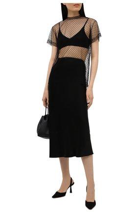 Женская юбка из вискозы MAISON MARGIELA черного цвета, арт. S29MA0502/S49465 | Фото 2