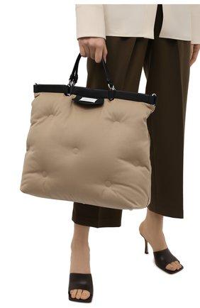 Женский сумка-шопер glam slam large MAISON MARGIELA бежевого цвета, арт. S56WC0122/P4086   Фото 2