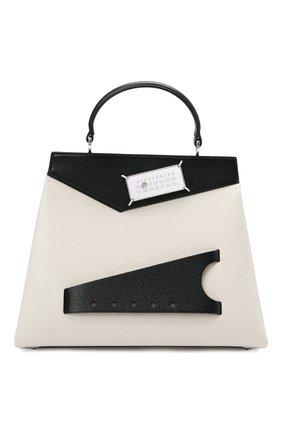 Женская сумка snatched small MAISON MARGIELA черно-белого цвета, арт. S56WD0124/PR044   Фото 1