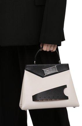 Женская сумка snatched small MAISON MARGIELA черно-белого цвета, арт. S56WD0124/PR044   Фото 2