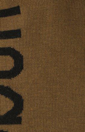 Мужские комплект из двух пар носков HUGO хаки цвета, арт. 50401967 | Фото 2 (Материал внешний: Хлопок; Кросс-КТ: бельё)