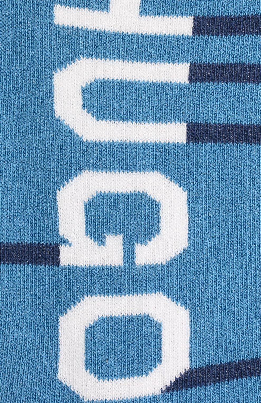 Мужские комплект из двух пар носков HUGO голубого цвета, арт. 50454397 | Фото 2 (Кросс-КТ: бельё; Материал внешний: Хлопок)