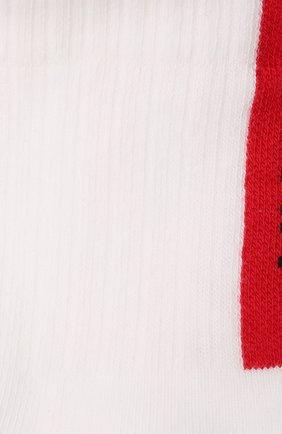 Мужские комплект из двух пар носков HUGO белого цвета, арт. 50453133 | Фото 2 (Материал внешний: Хлопок; Кросс-КТ: бельё)
