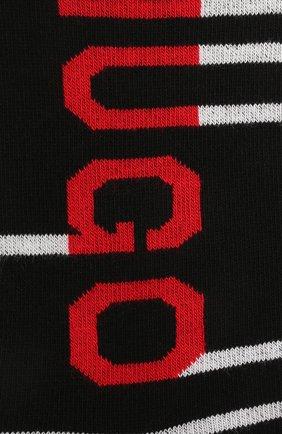 Мужские комплект из двух пар носков HUGO черного цвета, арт. 50454397 | Фото 2 (Материал внешний: Хлопок; Кросс-КТ: бельё)