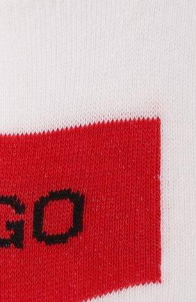 Мужские комплект из двух пар носков HUGO белого цвета, арт. 50439588 | Фото 2 (Кросс-КТ: бельё; Материал внешний: Хлопок)