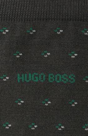 Мужские комплект из двух пар носков BOSS темно-серого цвета, арт. 50449393 | Фото 2 (Кросс-КТ: бельё; Материал внешний: Хлопок)