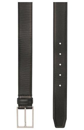 Мужской кожаный ремень BOSS черного цвета, арт. 50455085 | Фото 2