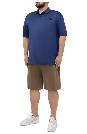 Мужские шорты из хлопка и шелка PAUL&SHARK бежевого цвета, арт. 21414116/FIZ/62-64 | Фото 2