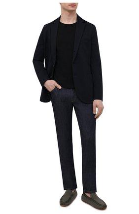 Мужские кожаные мокасины ZILLI хаки цвета, арт. MDV-M053/005 | Фото 2