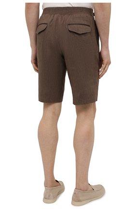 Мужские шорты из шерсти и лена ZILLI коричневого цвета, арт. M0V-40-38Z-E6031/0001 | Фото 4