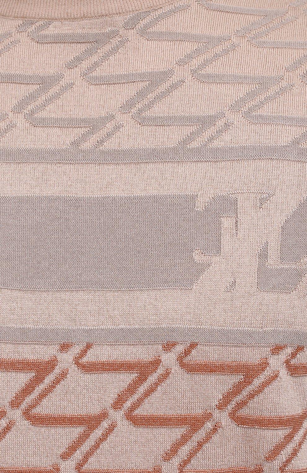 Мужской джемпер из шелка и хлопка ZILLI бежевого цвета, арт. MBV-RN140-VACH1/MC01   Фото 5