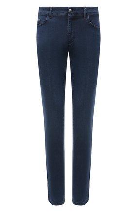 Мужские джинсы ZILLI синего цвета, арт. MCV-00091-DESA1/S001 | Фото 1 (Материал внешний: Хлопок, Деним; Силуэт М (брюки): Прямые; Длина (брюки, джинсы): Стандартные; Стили: Классический; Кросс-КТ: Деним)