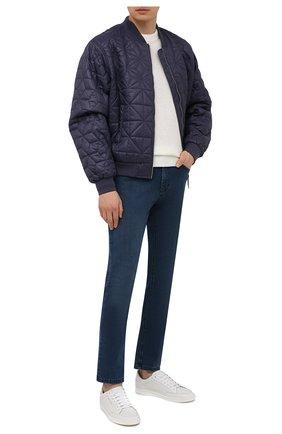 Мужские джинсы ZILLI синего цвета, арт. MCV-00091-DESA1/S001 | Фото 2 (Материал внешний: Хлопок, Деним; Силуэт М (брюки): Прямые; Длина (брюки, джинсы): Стандартные; Стили: Классический; Кросс-КТ: Деним)