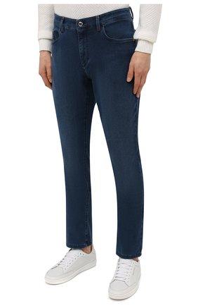 Мужские джинсы ZILLI синего цвета, арт. MCV-00091-DESA1/S001   Фото 3